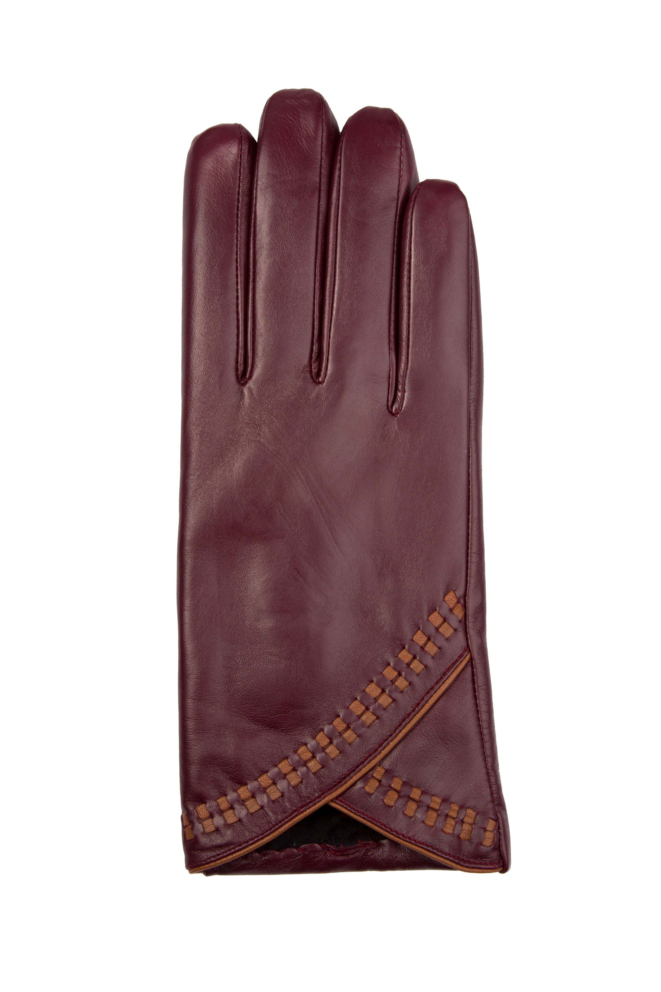 Perfect The Clarets  Womens Leather Dress Gloves With Long Fingers